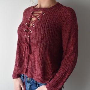ROMWE cross front sweater